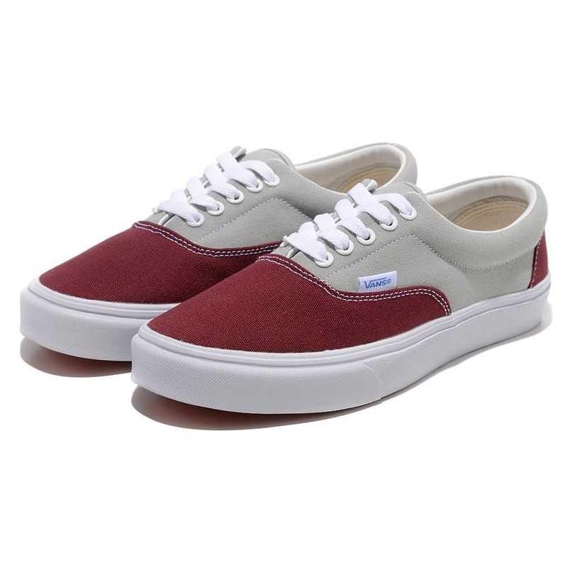 Vans Era Men's Canvas Shoes (Burgundy Grey) … – What to Wear