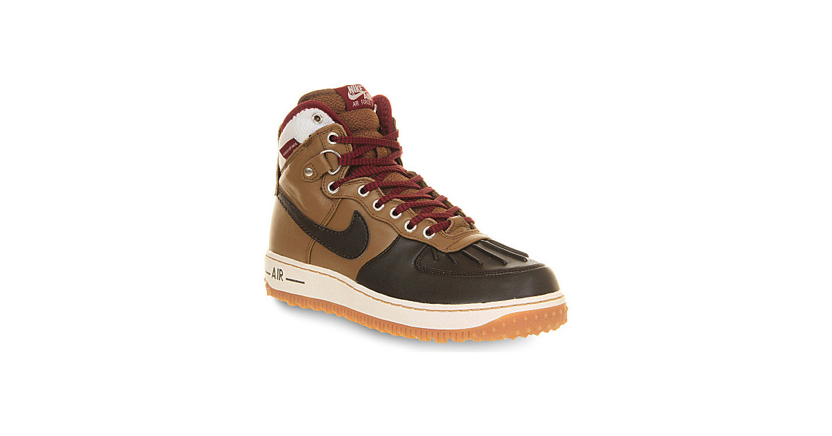 3ad12b4c2d63 Nike Air Force One Duck Boots – For Men in Brown for Men (Umber velvet  brown)