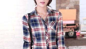 43464b65a24b 2014 new 21 colors girl s plaid flannel shirt female long-sleeved plaid .