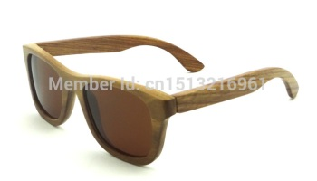 ae53652934e Pear Wood sun glasses Brown Polarized Lens oculos vintage mens sunglasses  Free Shipping(China (