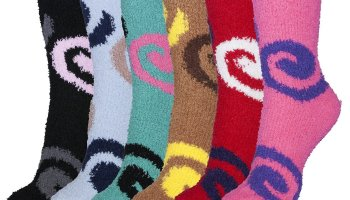 a3d0bed77d7 Basico Soft Warm Microfiber Fuzzy Winter Socks Crew 6 Pairs (Dark Colors)  at Amazon