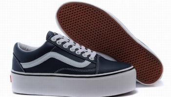5675e73e46d356 Collection Here Vans Old Skool Classic Platform Navy Blue Womens Shoes On  Sale