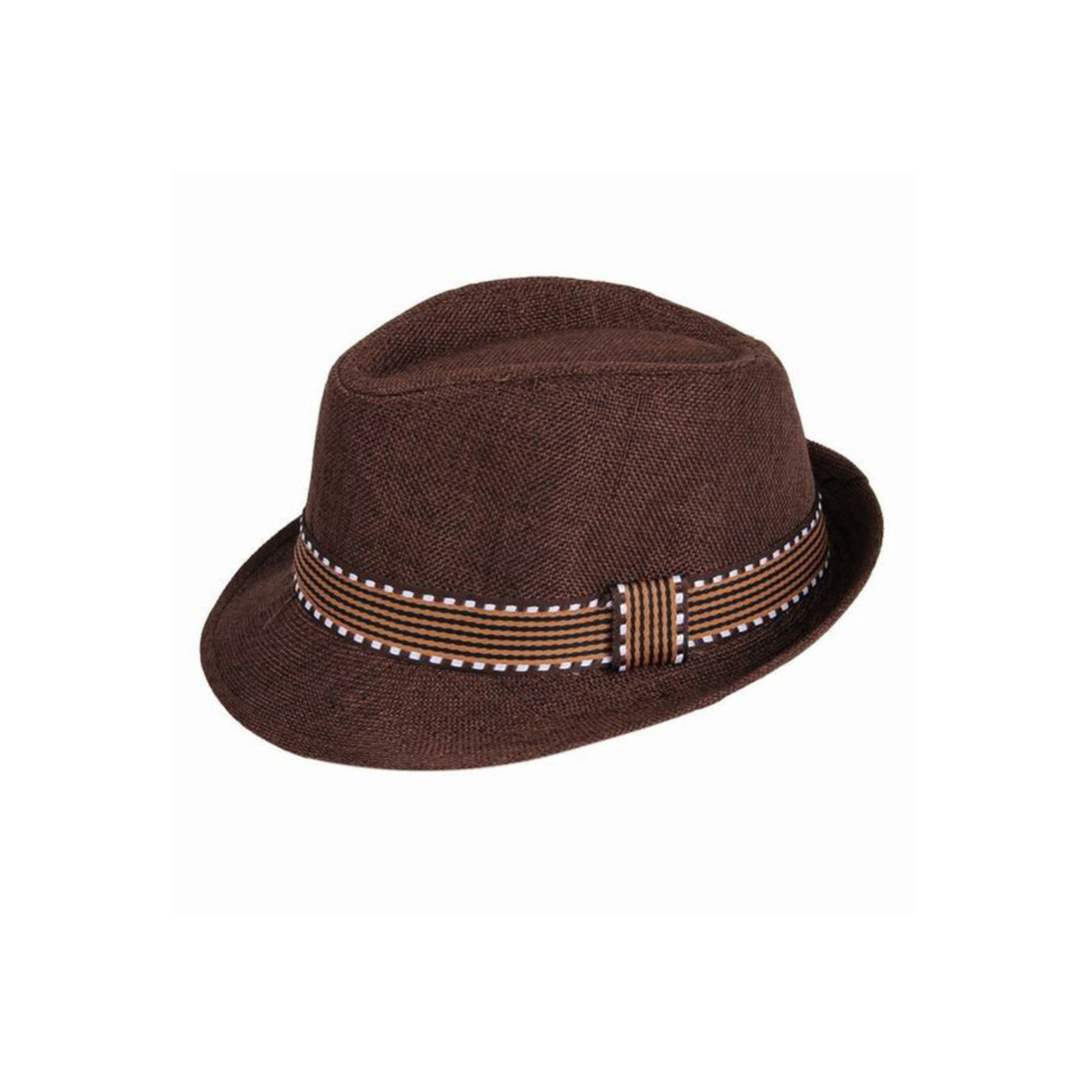 New Fashion Kids Boy Girl Unisex Fedora Hat Contrast Trim Cool Jazz ... 748f56574d6