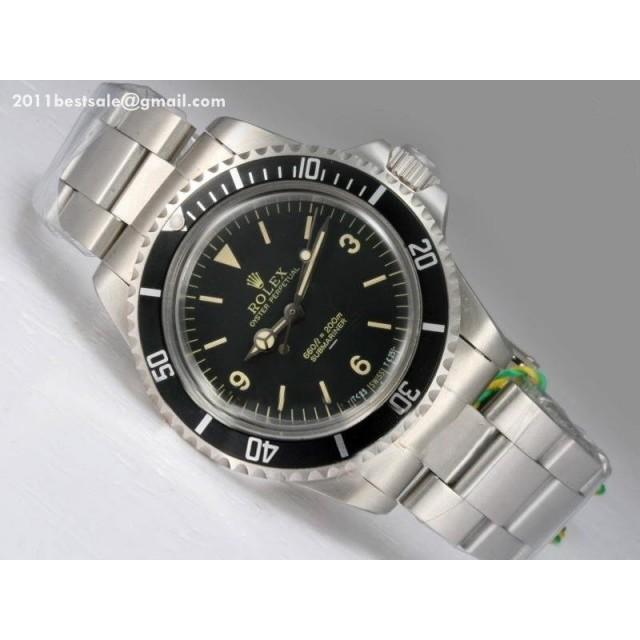 d61bc3aab8c Rolex Fake Submariner Watches Ref.5513 Swiss ETA 2836 Movement Black ...