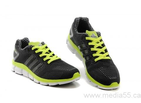 Black-Fluorescent green Adidas ClimaCool Ride Running Shoes Shoes Size:36/37/