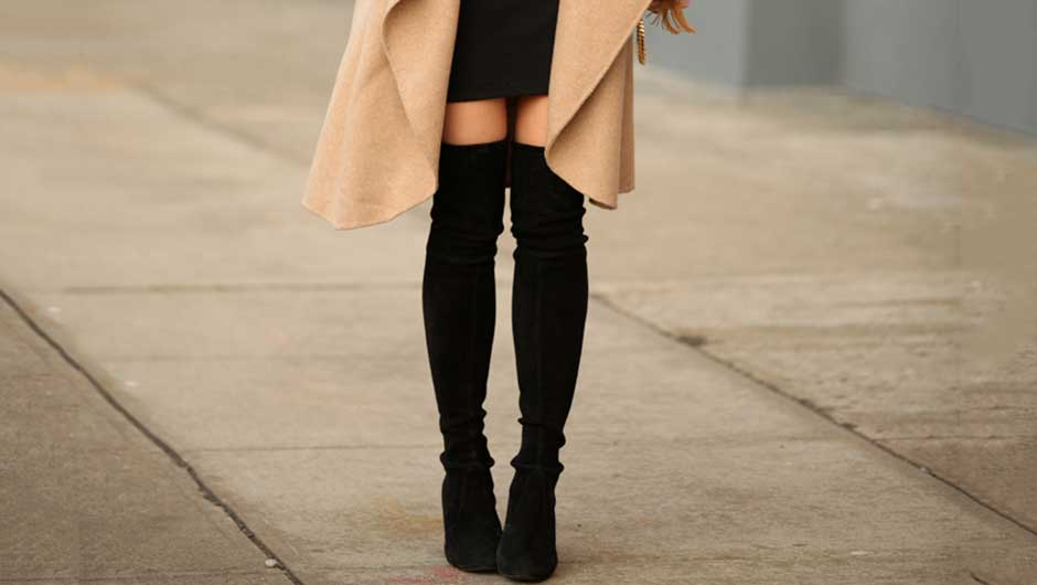 96a82a66a364be How To Wear Over-The-Knee Boots If You re Not A Street Style Star – What to  Wear Daily