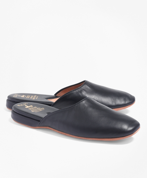 Nappa Backless Slip-On Slippers Blue